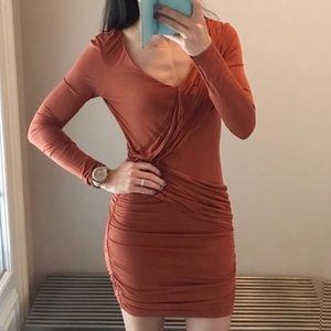 BCBG orange spice dress